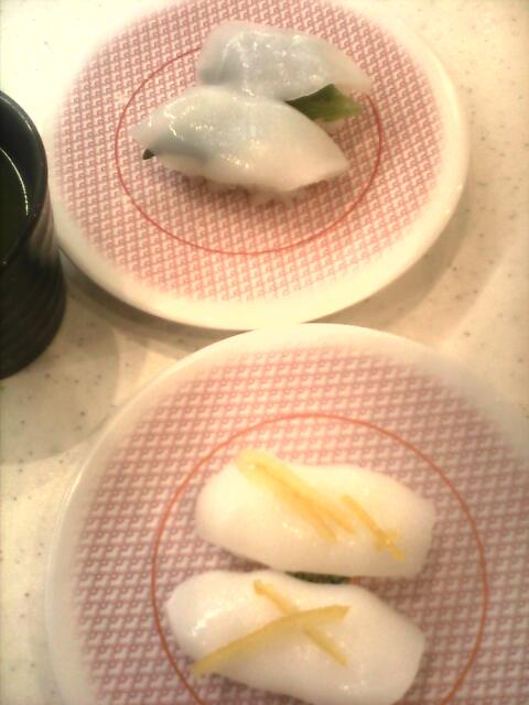 ��(i150)(i140)(i146) かっぱ寿司 (i120)新メニュー 柚子塩アカイカと、大葉のせアカイカの握り寿司(i150)(i120)