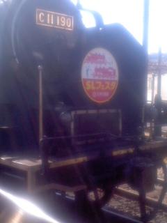 ��(i150)(i1030)(i1028)サンドイッチの日 仕事先から帰って来ました。 ((i30)鉄道特派員(i30)撮影 SLフェスタin千頭 牽引機のC11-190号機)