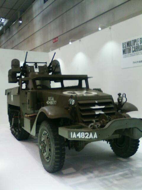 ��(i150)(*^^*)ノ こんばんわ 静岡ホビーショー会場に展示されていたアメリカ軍 (M16対空自走砲)