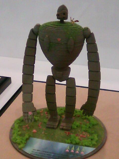 ��(i150)(*^^*)ノ 長ぁ〜い腕が印象的なキャラクター 『天空の城ラピュタ』登場の、ロボット兵 (さんけい みにちゅあーと ペーパークラフト)