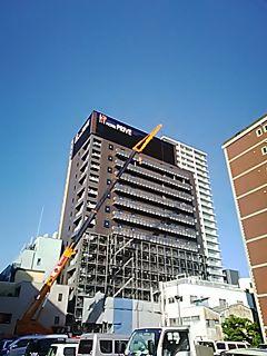 🏨🛌ホテルプリブェ 静岡ステーション (静岡市駿河区南町)がほぼ完成致しました。